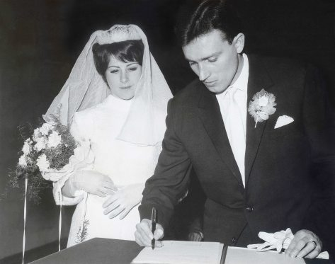 68.Feb.24 - Košice · Eva Kendeova & Vaclav Dusil Wedding (signature, restored)