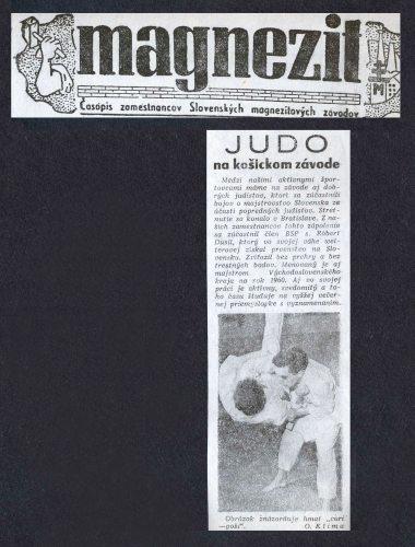 Article - Judo na košickom závode