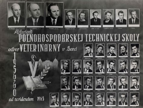 67.Apr.9 - Košice · Document, Vaclav Dusil (Veterinary Medicine, class photo)
