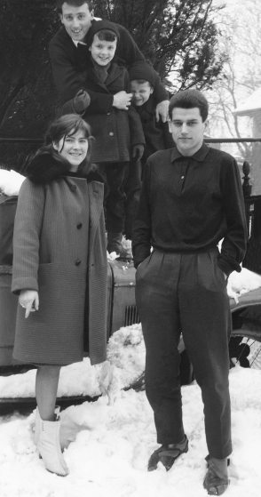 66.Feb - Košice · Eva Kendeova, Vaclav & Karol Dusil (neighbour kids)