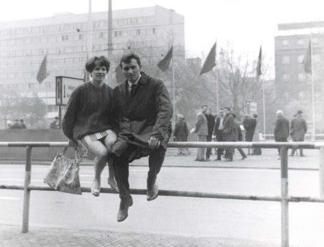 68.Jun - Dresden · Eva Kendeova & Vaclav Dusil (honeymoon, railing)
