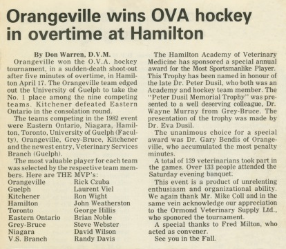 81 - Hamilton · Vaclav Dusil (Article, Orangeville Wins OVA Hockey In Overtime at Hamilton)