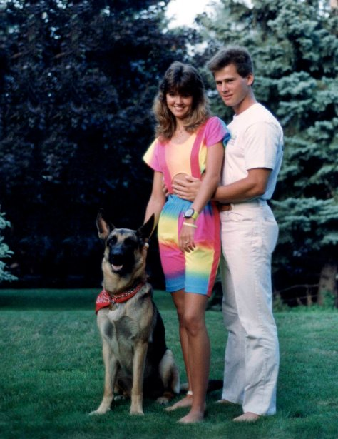 87.Jul - Burlington · Zakk, Heather Brown & Gabriel Dusil (front yard)
