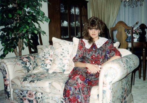 90 - Burlington · Heather Brown (18th birthday, red, grey & black dress)