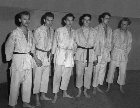 60 - Košice · Joe Nalevanko, Vaclav, Robert Dusil, Ludvik Wolf, Juraj Mazanek & Ladislav Magyar (judo dojo)