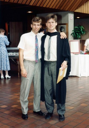 91.May.31 - Hamilton · Roman & Gabriel Dusil (McMaster University, graduation, Convocation Ceremony)