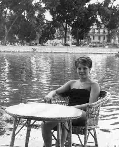 60.Jul - Keszthely · Eva Kendeova (Cafe on Lake Balaton)