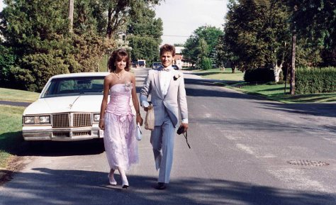 87.Jun.11 - Burlington · Heather Brown & Gabriel Dusil (high school prom)