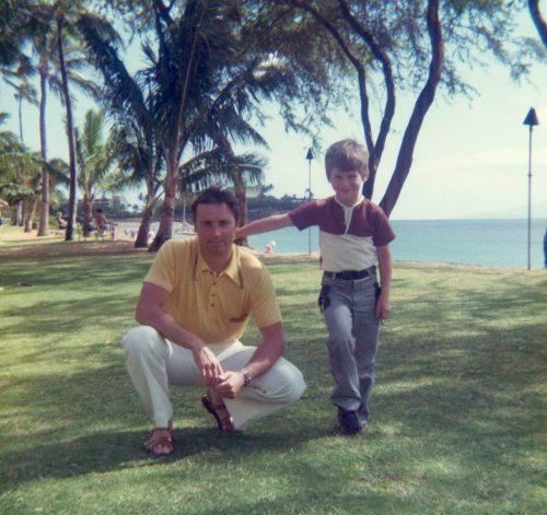 74.May - Hawaii · Vaclav & Gabriel Dusil (palm trees)