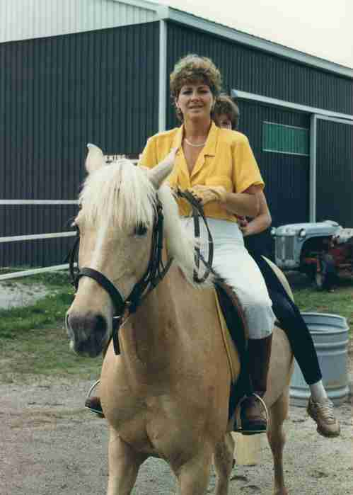 84.Jun - Burlington · Eva & Alica Dusil (Horses, Babe, parking lot)
