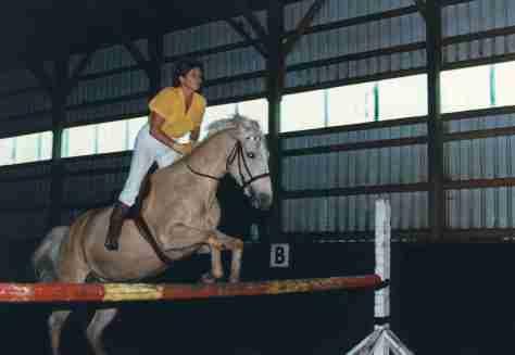 84.Jun - Burlington · Eva Dusil (Horses, Babe, jumping)