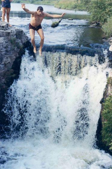 74 - Guelph · Vaclav Dusil (jumping into Rockwood falls #1)