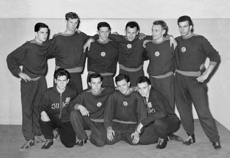 59 - Košice · Jozef Arvay, Nyarias, Ludvik Wolf, Zerge Kaan, Laco Magyar, Papik, x, Robert Dusil, Jozef Grusecky & Vaclav Dusil (judo)