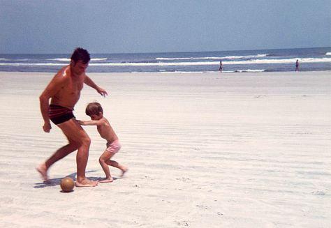 72.Jul - Tampa · Vaclav & Gabriel Dusil (football on the beach)