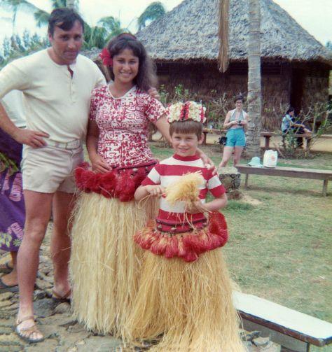 74.May - Hawaii · Vaclav, Hula dancer & Gabriel Dusil