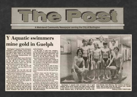 81.Apr.4 - Burlington · Post, Y Aquatic Swimmers Mine Gold in Guelph (BYAC swimming)
