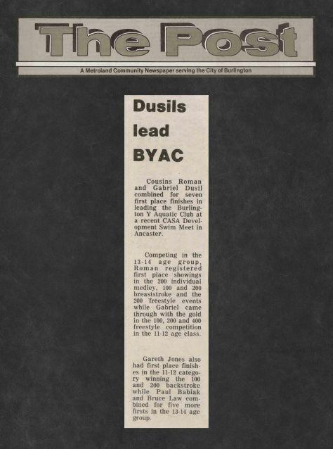 81.Mar.8 - Burlington · Post, Dusil's Lead BYAC (BYAC swimming)
