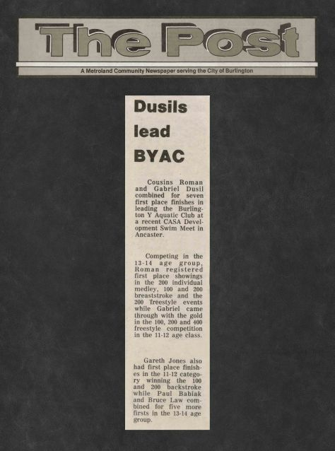 81.Mar.8 - Burlington · Post, Dusil's Lead BYAC (BYAC swimming)