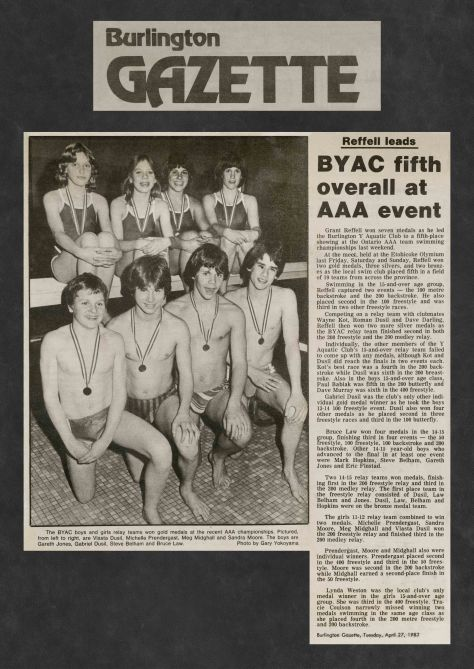 82.Apr.27 - Burlington · Gazette, BYAC Fifth Overall at AAA Event (BYAC swimming)