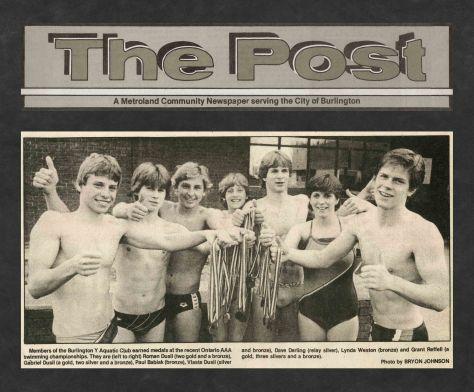 83.May.11 - Burlington · Post, Ontario AAA Swimming Championships (BYAC swimming)