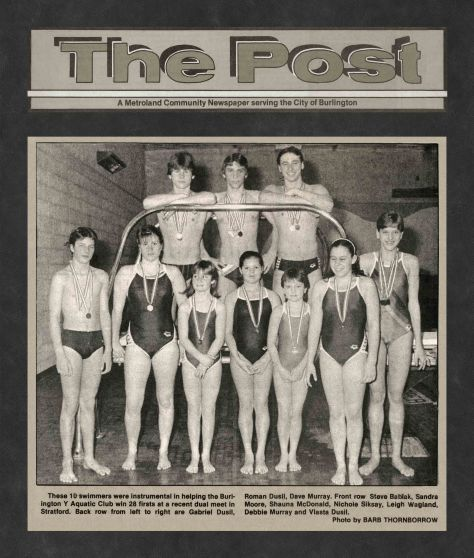 84.Apr.25 - Burlington · Post, 28 Firsts at Dual Meet in Stratford (BYAC swimming)