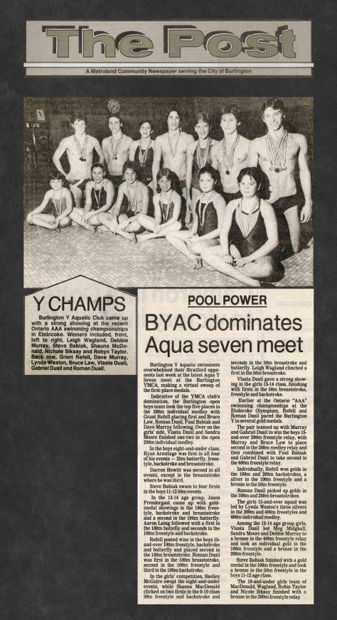 84.Apr.25 - Burlington · Post, BYAC Dominates Aqua Seven Meet (BYAC swimming)
