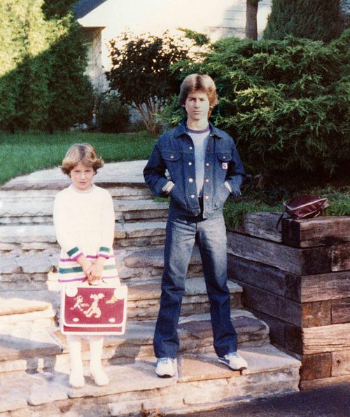 81.Sep - Burlington · Alica & Gabriel Dusil (1st day of school)