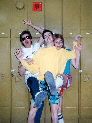 86 - Burlington · Gabriel Dusil, Tim Steele & Doug Little (Aldershot High School, lockers)