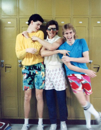 86 - Burlington · Tim Steele, Gabriel Dusil & Doug Little (Aldershot High School, lockers)
