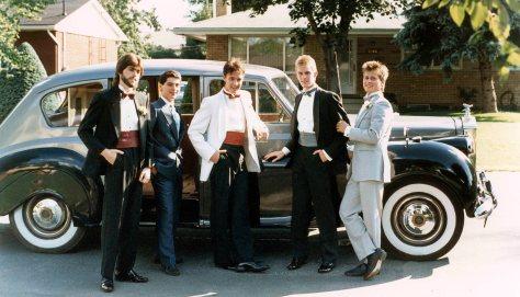 87.Jun.11 - Burlington · David Forsyth, Gerry Galea, Drew Schemmer, Doug Little & Gabriel Dusil (high school prom)
