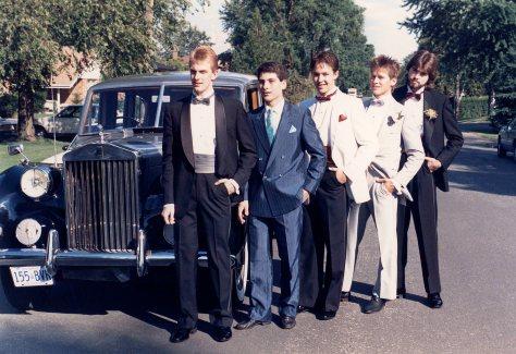 87.Jun.11 - Burlington · Doug Little, Gerry Galea, Drew Schemmer, Gabriel Dusil & David Forsyth (high school prom)