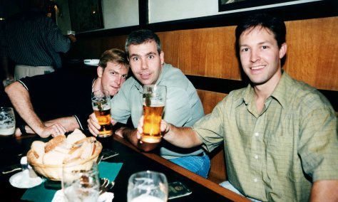99.Sep.22 - Prague · Doug Little, Geoff Baxter & Drew Schemmer (stag)