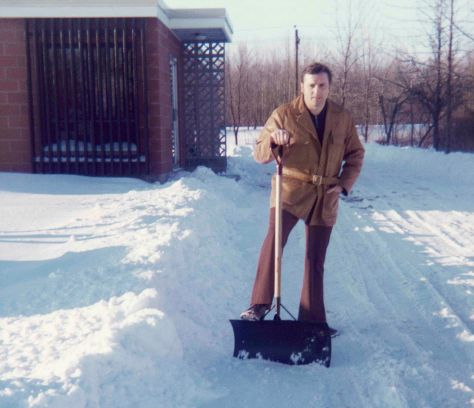 75.Jan - Burlington · Vaclav Dusil (cleaning driveway)